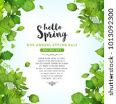 our annual spring sale ... | Shutterstock .eps vector #1013092300