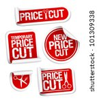 price cut sale stickers. | Shutterstock .eps vector #101309338
