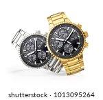 wrist watch. time accessory... | Shutterstock . vector #1013095264