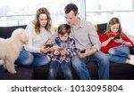 positive man  woman and... | Shutterstock . vector #1013095804