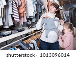 smiling pregnant mother and...   Shutterstock . vector #1013096014
