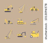 icon construction machinery... | Shutterstock .eps vector #1013096578