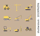 icon construction machinery... | Shutterstock .eps vector #1013096596