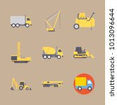 icon construction machinery... | Shutterstock .eps vector #1013096644