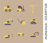 icon construction machinery... | Shutterstock .eps vector #1013097130
