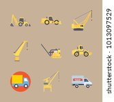 icon construction machinery... | Shutterstock .eps vector #1013097529