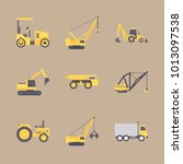 icon construction machinery... | Shutterstock .eps vector #1013097538
