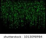 binary circuit code big data... | Shutterstock .eps vector #1013098984