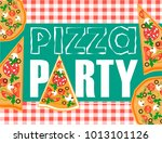 a cheerful invitation to a... | Shutterstock .eps vector #1013101126