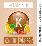vitamin k supplement food icons....   Shutterstock .eps vector #1013101189