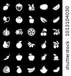 fruits vegetables icons | Shutterstock .eps vector #1013104030