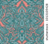 vector seamless pattern with... | Shutterstock .eps vector #1013105428