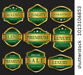 luxury premium emerald golden... | Shutterstock .eps vector #1013106853