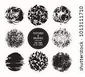 hand drawn textures   brush... | Shutterstock .eps vector #1013111710