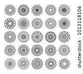 spirograph design element... | Shutterstock .eps vector #1013118106