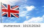 flag of united kingdom on...   Shutterstock . vector #1013120263