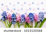 flowers composition with lilac... | Shutterstock . vector #1013120368