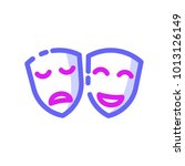 theater mask icon colourfull | Shutterstock .eps vector #1013126149
