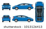 blue car vector mock up for... | Shutterstock .eps vector #1013126413