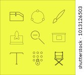web linear icon set. simple... | Shutterstock .eps vector #1013126503