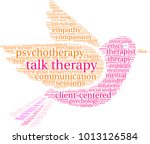 talk therapy word cloud on a... | Shutterstock .eps vector #1013126584