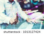 businessman with finger point... | Shutterstock . vector #1013127424