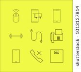 devices linear icon set. simple ... | Shutterstock .eps vector #1013127814