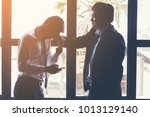 business partners... | Shutterstock . vector #1013129140