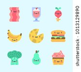 icons about food with cupcake ... | Shutterstock .eps vector #1013129890