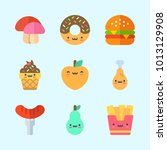 icons about food with fries ... | Shutterstock .eps vector #1013129908