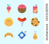 icons about food with cookie ... | Shutterstock .eps vector #1013130550