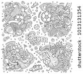 line art vector hand drawn... | Shutterstock .eps vector #1013131354