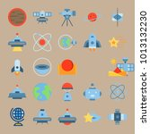 icon set about universe with... | Shutterstock .eps vector #1013132230