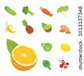 health food isolated flat... | Shutterstock . vector #1013137348