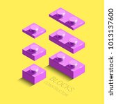 3d isometric pink elements from ... | Shutterstock .eps vector #1013137600