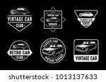 classic car vintage badge  ... | Shutterstock .eps vector #1013137633