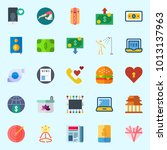 icons set about lifestyle with... | Shutterstock .eps vector #1013137963
