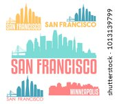 san francisco california usa... | Shutterstock .eps vector #1013139799