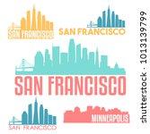 san francisco california usa... | Shutterstock .eps vector #1013139799