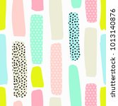 seamless pattern with brush... | Shutterstock .eps vector #1013140876
