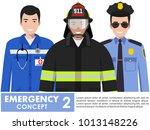 emergency concept. detailed... | Shutterstock .eps vector #1013148226