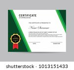 modern certificate vector | Shutterstock .eps vector #1013151433