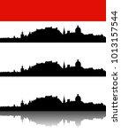 silhouette of salzburg | Shutterstock .eps vector #1013157544