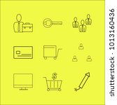 business linear icon set.... | Shutterstock .eps vector #1013160436