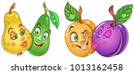 cartoon fruits in love. lovely... | Shutterstock .eps vector #1013162458