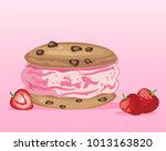 an illustration of a strawberry ...   Shutterstock . vector #1013163820