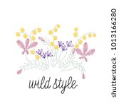fashion embroidery with wild... | Shutterstock .eps vector #1013166280