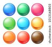 round spheres set vector. set... | Shutterstock .eps vector #1013168803