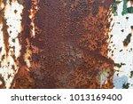 rusted metal texture background.... | Shutterstock . vector #1013169400