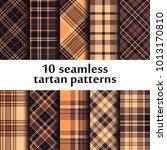 set of seamless tartan patterns   Shutterstock .eps vector #1013170810